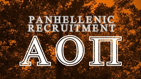 Thumbnail for entry Panhellenic House Tour - Alpha Omicron Pi