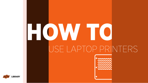 Thumbnail for entry How To Use Laptop Printers