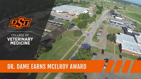 Thumbnail for entry Dr. Dame Earns McElroy Award