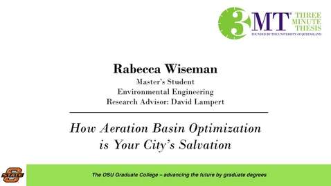 Thumbnail for entry 2018 3 Minute Thesis Finals: Rabecca Wiseman