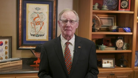 Thumbnail for entry Message from Oklahoma State University President Burns Hargis