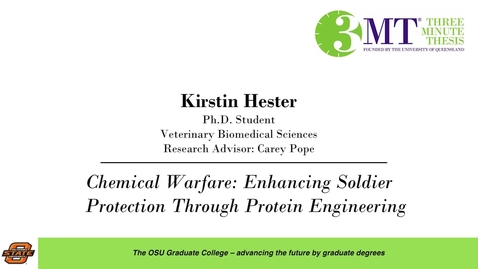 Thumbnail for entry 2018 3 Minute Thesis Finals: Kirstin Hester