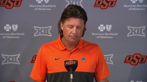 Thumbnail for entry OSU/Texas Preview: Mike Gundy Speaks with the Media