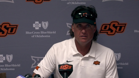 Thumbnail for entry Oklahoma State v. University of Tulsa: Gundy Postgame