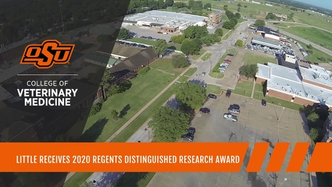 Thumbnail for entry Little Receives the 2020 Regents Distinguished Research Award