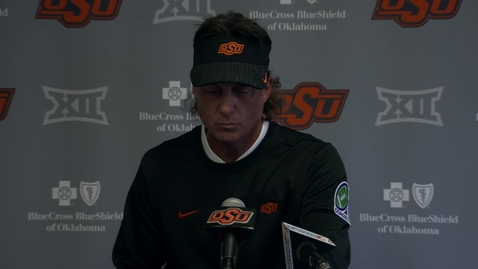 Thumbnail for entry OSU/KU Football Postgame: Mike Gundy Speaks to the Media