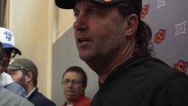Thumbnail for entry Spring Football Practice: Mike Gundy