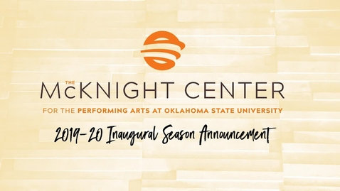Thumbnail for entry REBROADCAST: McKnight Center Season Announcement