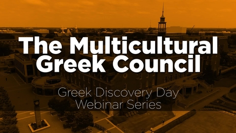Thumbnail for entry The Multicultural Greek Council at Oklahoma State University