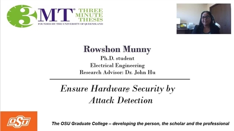 Thumbnail for entry Rowshon Munny 3MT Prelims- Ensure Hardware Security by Attack Detection
