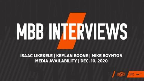 Thumbnail for entry BASKETBALL: OSU Cowboy Basketball Head Coach Mike Boynton and Players Isaac Likekele and Keylan Boone Address the Media
