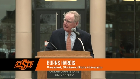 Thumbnail for entry President Hargis Speaks at MLK Day March