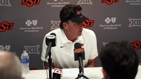 Thumbnail for entry 10/16/21  Mike Gundy OSU/Texas Postgame Comments