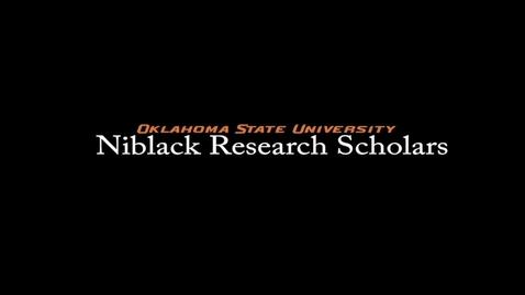 Thumbnail for entry Erin Heilman, 2017-18 Niblack Research Scholar
