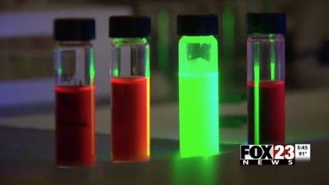 Thumbnail for entry IN THE NEWS:  OSU Researchers Developing A Cheaper Version Of Quantum Dots
