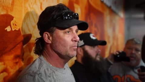 Thumbnail for entry SPRING FOOTBALL:  Mike Gundy Speaks to the Media