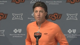 Thumbnail for entry OSU/KSU Football Preview: Mike Gundy Speaks to the Media