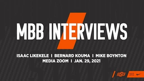 Thumbnail for entry BASKETBALL: Coach Boynton and Players Isaac Likekele and Bernard Kouma  Speak to the Media