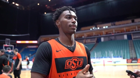 Thumbnail for entry Cowboy Basketball:  Dee Mitchell Speaks to the Media