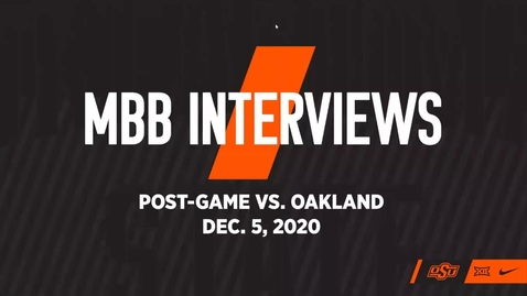 Thumbnail for entry BASKETBALL: OSU Cowboy Basketball Head Coach Mike Boynton and players Cade Cunningham and Isaac Likekele Address the Media