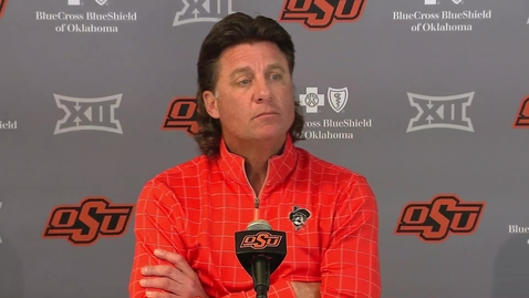 Thumbnail for entry Bedlam Preview: Gundy Speaks to the Media