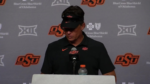 Thumbnail for entry 9/11/21:  Mike Gundy OSU/Tulsa Postgame Comments