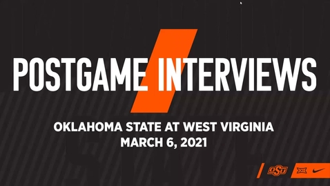Thumbnail for entry COWBOY BASKETBALL: Postgame Interviews vs West Virginia