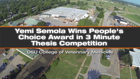 Thumbnail for entry Semola Wins the People's Choice Award in Vet Med 3 Minute Thesis Competition
