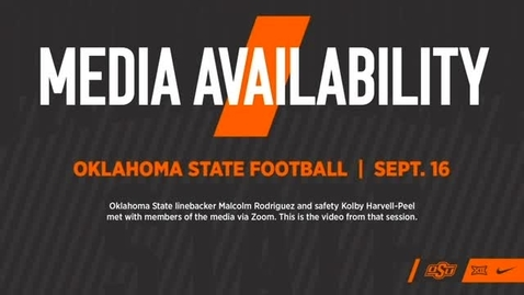 Thumbnail for entry FOOTBALL: OSU Cowboys Malcolm Rodriguez and Kolby Harvell-Peel  Address the Media