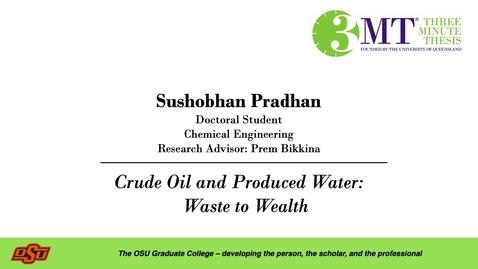 Thumbnail for entry Sushobhan Pradhan: 3MT Graduate College