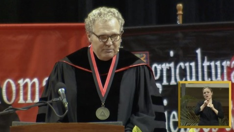 Thumbnail for entry ICYMI:  News 9's Kelly Ogle Speaks at Oklahoma State University College of Arts & Sciences Commencement