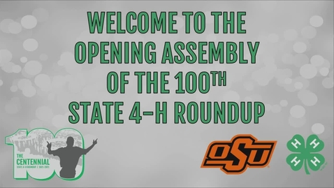 Thumbnail for entry Opening Assembly of the 2021 Oklahoma State 4-H Roundup