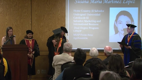 Thumbnail for entry Spring 2018 Commencement:  Master of International Agriculture Program Hooding Ceremony