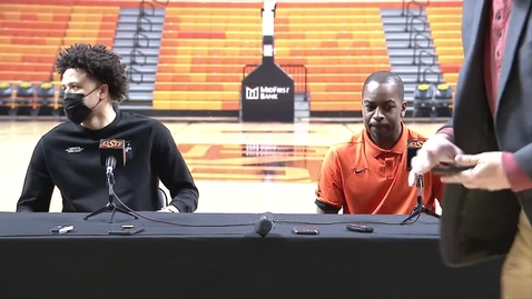 Thumbnail for entry COWBOY BASKETBALL:  Cade Cunningham Press Conference 4-1-21