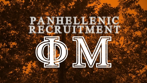 Thumbnail for entry Panhellenic House Tour - Phi Mu
