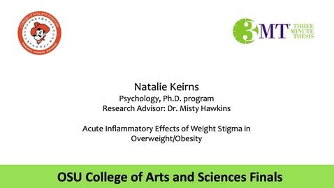 Thumbnail for entry Natalie Keirns: CAS 3MT Graduate Finals
