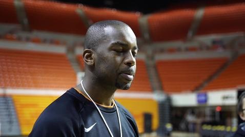 Thumbnail for entry Cowboy Basketball Head Coach Mike Boynton Addresses The Media