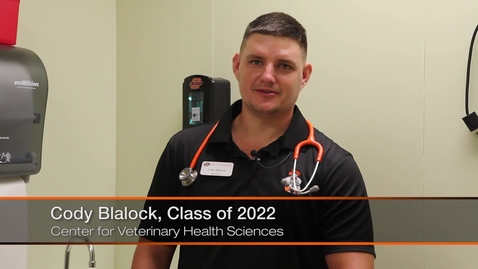 Thumbnail for entry Blalock Receives Oneok Veteran Scholarship