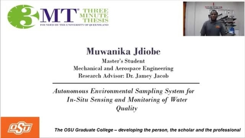 Thumbnail for entry Muwanika Jdiobe 3MT: Autonomous Environmental Sampling System for In-situ Sensing and monitoring of Water Quality