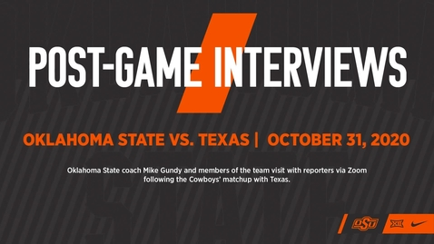Thumbnail for entry FOOTBALL: Postgame Interviews vs. Texas