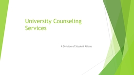Thumbnail for entry About University Counseling Services