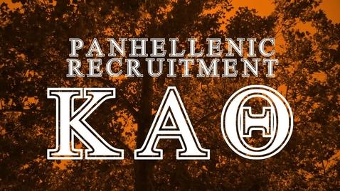 Thumbnail for entry Panhellenic House Tour - Kappa Alpha Theta