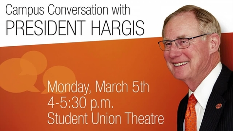 Thumbnail for entry REBROADCAST:  Campus Conversation with Burns Hargis