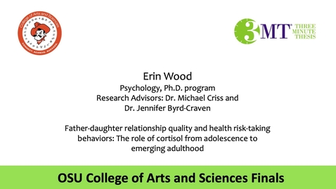 Thumbnail for entry Erin Wood: CAS 3MT Graduate Finals