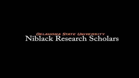 Thumbnail for entry Matthew Hart, 2017-18 Niblack Research Scholar