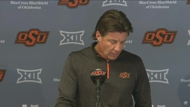 Thumbnail for entry OSU/TCU Football Preview:  Mike Gundy Speaks to the Media