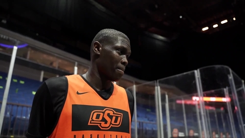 Thumbnail for entry Cowboy Basketball:  Yor Anei Speaks to the Media