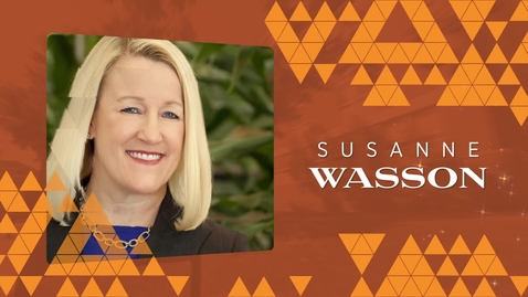 Thumbnail for entry 2019 Distinguished Alumni: Susanne Wasson