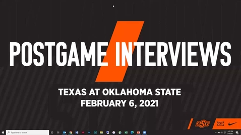 Thumbnail for entry COWBOY BASKETBALL:  OSU/Texas Postgame Press Conference