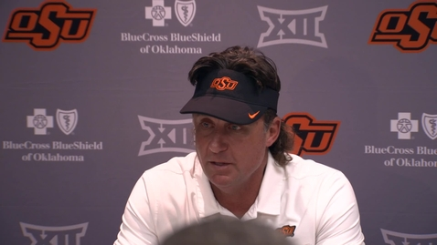 Thumbnail for entry Oklahoma State v. Texas: Gundy Postgame